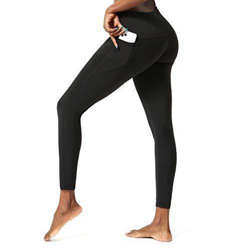 SKYSPER Leggings Mujer Fitness Cintura Alta Pantalones Deportivos Mallas Pantalones de Deporte con Bolsillos Laterales Elásticos y Transpirables para Running Training Estiramiento Yoga y Pilates