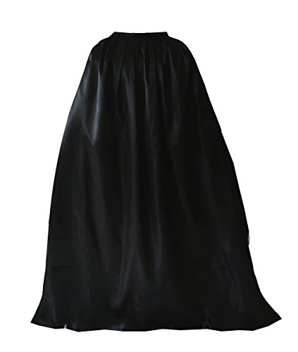 GOLDSTITCH Cape Costume Full Length Deluxe Adult Cape Cloak Knight Fancy Cool Cosplay Costume Black
