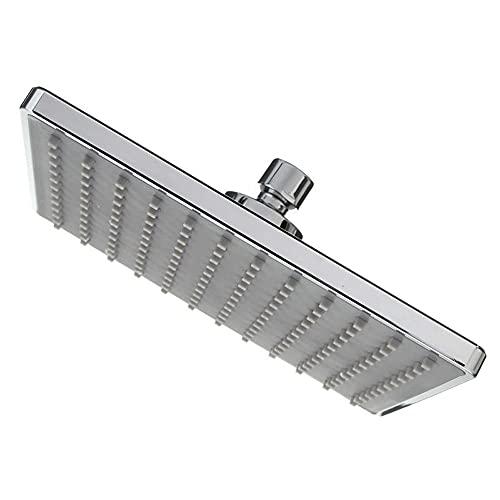 Cabezal de ducha de alta presión para lluvia de 8 pulgadas de aire Boost cascada cuadrado – ángulo ajustable – cobertura de cuerpo completo lluvia cabezal de ducha fijo para baño – cromado