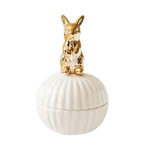 Amosfun Keramik-Schmuckkästchen, Mini-Multifunktions-Etui für Hochzeiten, Süßigkeiten, Retro-Aufbewahrungsbox für Mini-Schmucktablett für Mädchen und Damen
