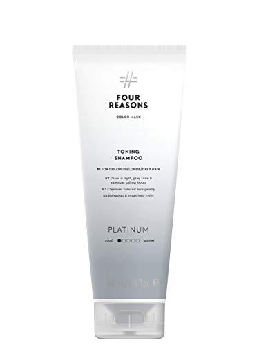 Color Mask Shampoo - Sulfate Free Toning Platinum Shampoo for Blonde Hair - Color Depositing Platinum Shampoo, VEGAN, 8.5 oz (Platinum)