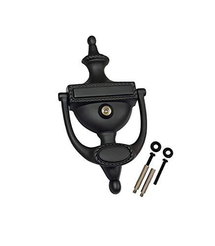 QCAA Solid Brass Door Knocker, Victorian Rope Type, 7-3/8