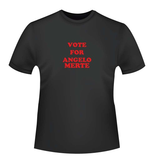 Vote for Angelo Merte, Herren T-Shirt - Fairtrade, Größe 3XL, schwarz