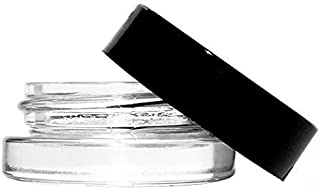 7-Milliliter Glass Jars with Lids (90-pack) includes circle labels by Infinite Containers