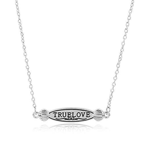 N/B Joyería de Moda Collar de Amor Verdadero Cómo conocí a tu Madre Letras Etiquetas Colgantes Collar de Cadena para Mujeres Hombres Joyería