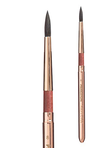 Princeton Artist Brush, Neptune Series 4750, Synthetic Squirrel Watercolor Paint Brush, Travel Round, Size 8
