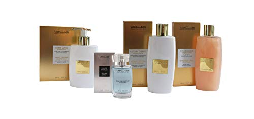 BCB Set silber - 4 Teile (Eau de Parfum silber, Hand Creme, Body Lotion und Shower Gel)