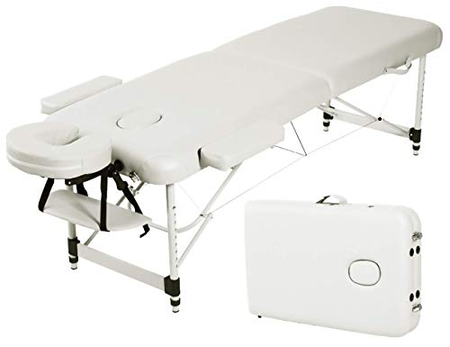 Angel USA Ultra Light Weight Sturdy Aluminum Frame 84'L Portable Massage Table Facial SPA Bed Tattoo...