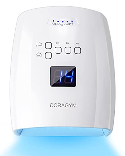 Rechargeable UV LED Nail Lamp, DORAGYM 48W...