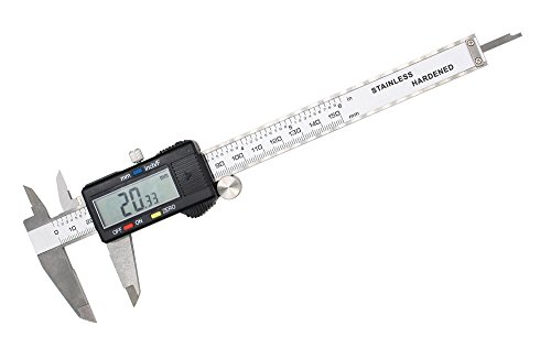 Large LCD Screen Electronic Digital Caliper 0-6 Inches/0-150 mm Measuring Range Inch/Metric/Fraction Conversion Measuring Tool for DIY and Professional