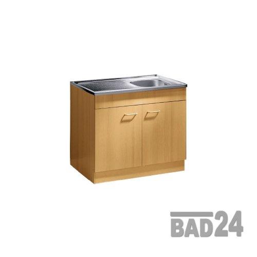 Küche-Spülenschrank/ Mehrzweckschrank 80x60 Start Melamin Buche/Buche