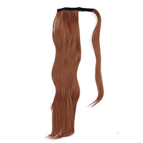 Zwindy Hairpiece | Estensioni dei Capelli alla Moda, Parrucca Avvolgente Dritta, Pezzo di Capelli Sintetico Senza Coda, Aumentare Il Volume dei Capelli, Creare Vari Stili.(3#)