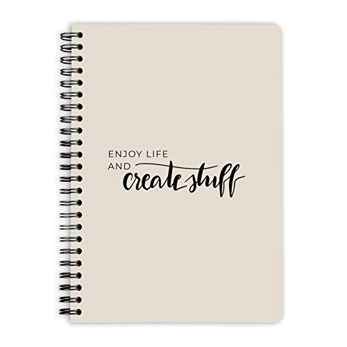purepaper Notizblock | Notizbuch | Spiralblock | Bullet Journal | Create Stuff, DIN A5, Softcover, 120g, gepunket, dotted, punktkariert, dot grid, 120 Seiten