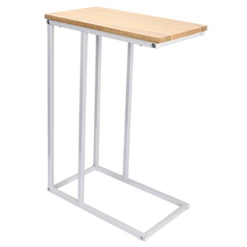 WOLTU End Table Side Table Coffee Table Light Oak for Coffee Laptop with Metal Frame Nightstand Table Beside Table TSG17hei