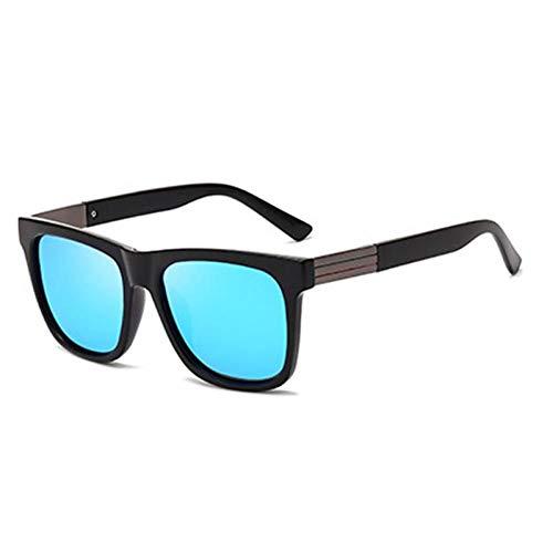 ZZOW Gafas De Sol Polarizadas Retro con Protección Uv400 para Hombre, Gafas De Sol para Conducción Deportiva Al Aire Libre, Gafas De Espejo, Gafas, Gafas De Sol