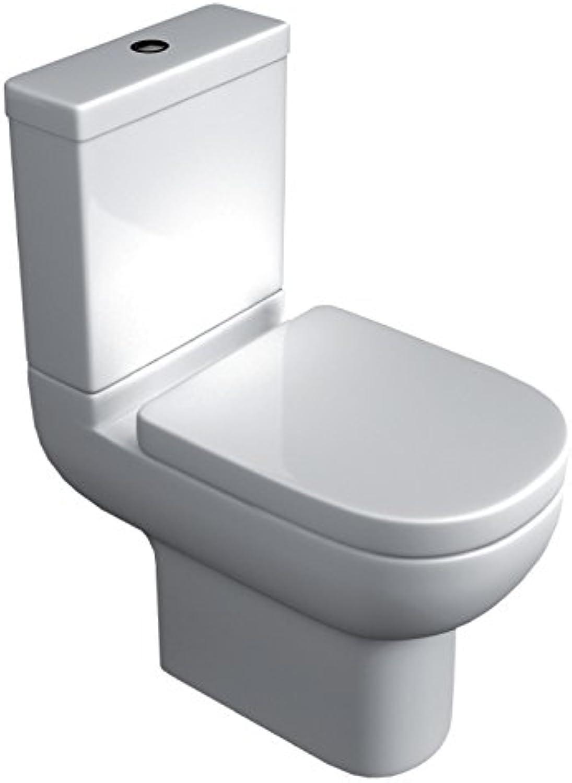 Home Standard? Studio Bathroom White Ceramic Close Coupled Toilet & Soft Close Toilet Seat