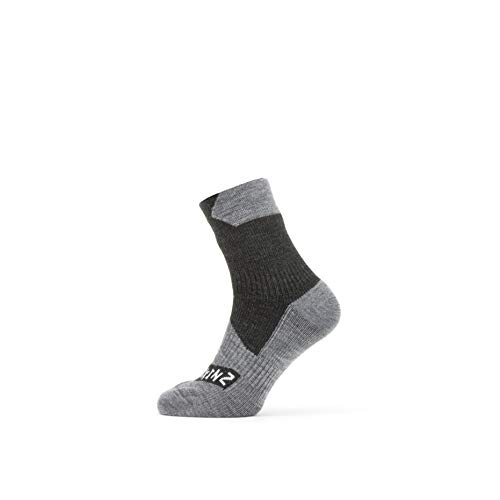 SealSkin Unisex Socken All Weather Ankle Socken, schwarz/grau, M, 2019088302