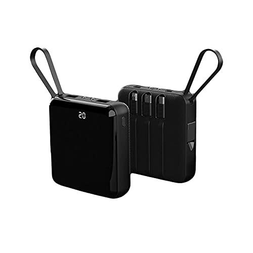 2021 Nuevo Cargador Portátil Ultrafino USB 2000 0mAh Portable Power Bank Con 3 Incorporado C.A. Enchufe Cargador De Respaldo De Batería Externa Para Teléfono Celular Negro / Rojo ( Color : Black )