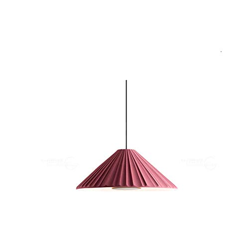 Nordic Lamps Woonkamer Kroonluchter Macaron Kroonluchter Single Head Bed Eenvoudige Europese veranda Slaapkamer Ins Lamp 21 Cm Drak Rood