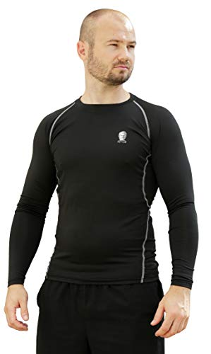 Tetius Black Long Sleeve T Shirt, Long Sleeve Running Top,...
