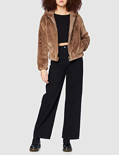 Only ONLMALOU Faux Fur Hood Jacket CC OTW Chaqueta, Coconut Toasted, S para Mujer