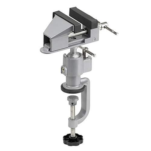Meister Schraubstock Mini - 50 mm Spannweite - 360° drehbar - Sicheres Fixieren von Werkstücken - Inkl. Maschinenhalterung / Tischschraubstock mit Klemmbacken / Feinmechaniker-Schraubstock / 5136100