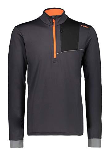 CMP T-Shirt Fonctionnel pour Homme Gris Respirant élastique à séchage Rapide, U423 Anthracite, 50