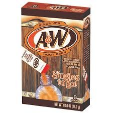 A&W Root Beer Singles To Go! Drink Mix, 6-0.53 oz Packets (Pack of 12, Total of 72 Packets)