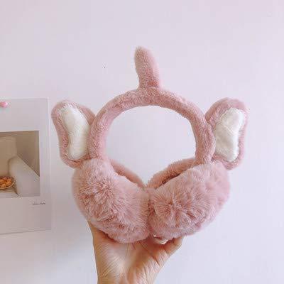 LLDKA Mujer Orejeras del oído de Conejo de Invierno Protectores contra el Ruido corazón Caliente Montar Preciosa Chica Estudiante de Felpa Paquete del oído del Casquillo del oído de Corea,Rosado,2