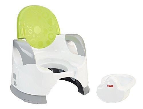 Mattel Fisher-Price CBV06 Komfort Töpfchen mit bequemer hoher Rückenlehne und Ablage für die Arme, grün