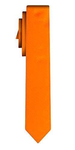 Cravate unie étroite solid powerful orange VII /6cm