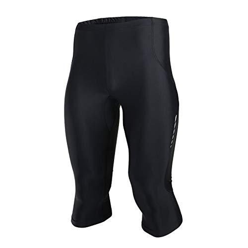 Pantalon Corto Deporte Hombre,Transpirable Apretado Pantalones Cortos de Ciclismo,Primavera y Verano Culotes Ciclismo Hombre, para Correr Deportes al Aire Libre Pantalon Corto (Size:METRO,Color:negro)