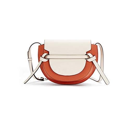 ZDAMN Crossbody Beutel Jugend Freizeit Satteltasche Kontrast-Farbe-weibliche Schulter Messenger Bag Umhängetaschen (Farbe : C, Size : 24.5x18x9.5cm)