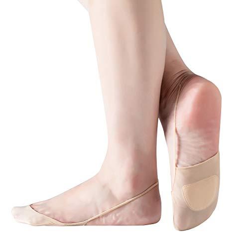RIIQIICHY dames No Show Sokken met Sling Back, Low Cut Non Slip Half Sokken voor Flats Boat Loafers Schoenen met hoge hak 4 tot 6 Pack