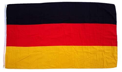 Shirtinstyle Bandiera Germania con 2Occhielli Europei mondiali di Calcio Calcio Germania 150x 90cm Frg, Schwarz-Rot-Gold