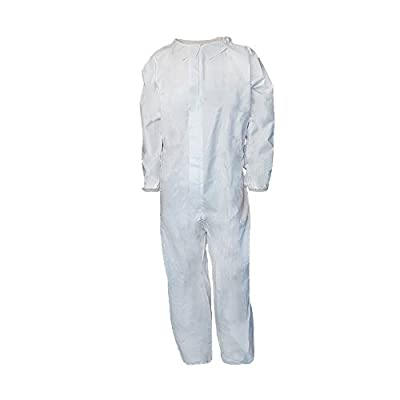 Raygard 5 PCS 30202 Microporous Disposable Chemical Protection Hooded Coveralls with Elastic Cuffs, Ankles