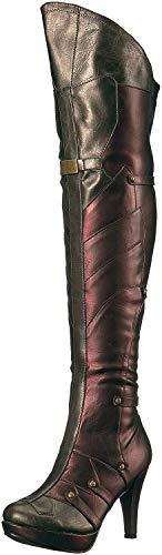 Ellie Shoes Women's 414-Wonder Boot, Red, 10 US/10 M US