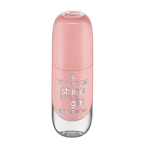 essence shine last & go! gel nail polish, Gellack, Nagellack, Nr. 73 Peach Please, orange, gelig, scheinend, ohne Aceton, vegan, ohne Konservierungsstoffe (8ml)