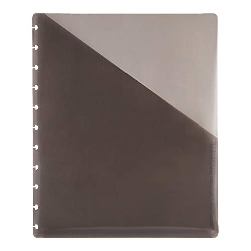TUL Custom Note-Taking System Discbound Pocket Dividers, 8 1/2 x 11, Letter Size, Gray, Pack of 2