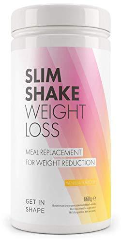 Slim Shake - der Shape Shake und Abnehm Shake (Diät Shakes) - Mahlzeitersatz mit dem Eiweiß Shake (Vanille)- von Get In Shape