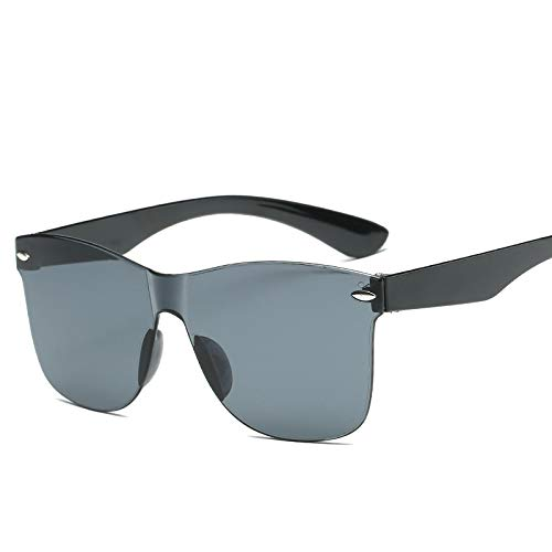 Gafas de Sol Gafas De Sol De Ojo De Gato De Una Pieza A La Moda para Mujeres/Hombres, Lentes Degradados, Espejo Retro, Gafas De Sol Sin Montura, Gaf