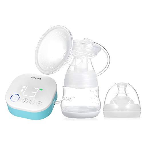 Decdeal Tiralatte Elettrico Automatico - 9 Livelli Funzione di Massaggio e Memoria,Touchscreen/Super Silenzioso/USB Ricaricabile,Senza BPA