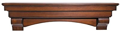 Pearl Mantels Auburn Arched 60-Inch Wood Fireplace Mantel Shelf