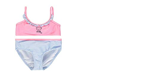 Steiff Mädchen Bikini mit Rüsche, rosa Gemustert L002014609 (104)