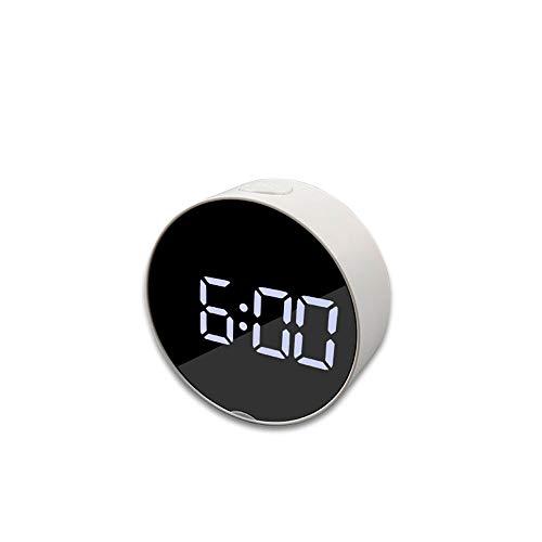 Tienda de damai Espejo Alarma Multifunción Reloj Reloj LED Espejo De Maquillaje Despertador Batería O Fuente De Alimentación Externa 9,5 * 3,6 Cm (Size : A)