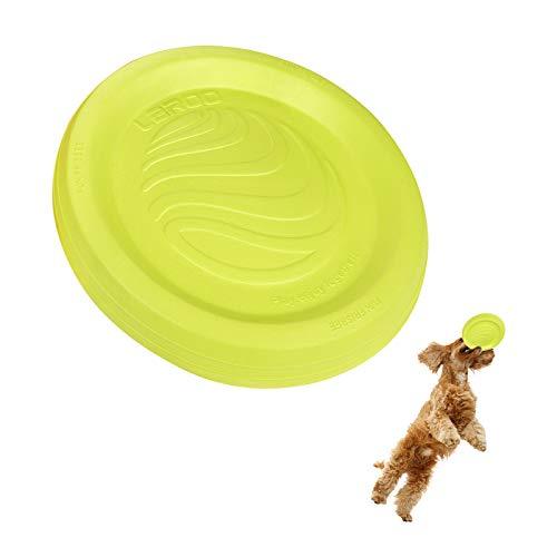 LaRoo Perro Disco de vuelo Perro Frisbee ABS Material Flotable Perro Juguetes Frisbee de Mascotas para Cachorros, Perros Pequeños, mMdianos y Grandes