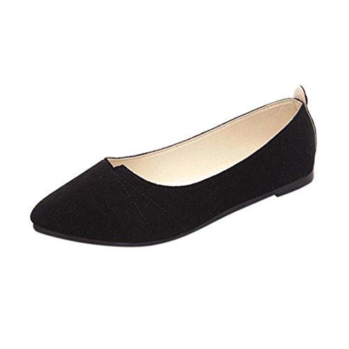 Bailarinas Mujer, Zapatos Planos de Mujer Primavera Verano Zapatos Deportivos sin Cordones Zapatillas de Playa Zapatos al Aire Libre Mocasines (Negro, 38)