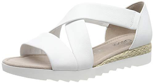 Gabor Shoes Comfort Sport, Sandalia con Pulsera para Mujer, Blanco (Weiss (Jute) 50), 43 EU