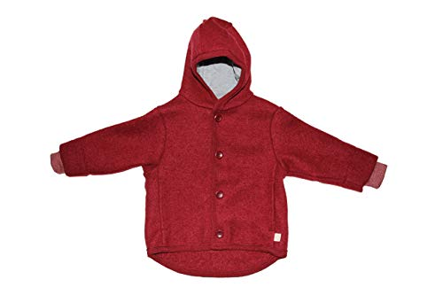 Giacca in lana cotta col. bordeaux