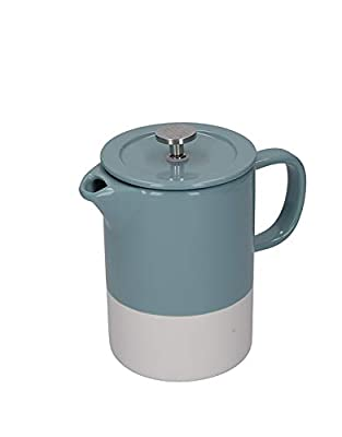 La Cafetière Barcelona French Press Coffee Maker, Ceramic, Retro Blue, 6 Cups (850 ml)